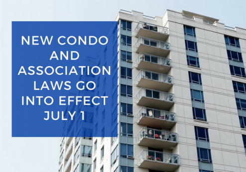 Summary of New Condo Association Laws in Effect As of July 1, 2018