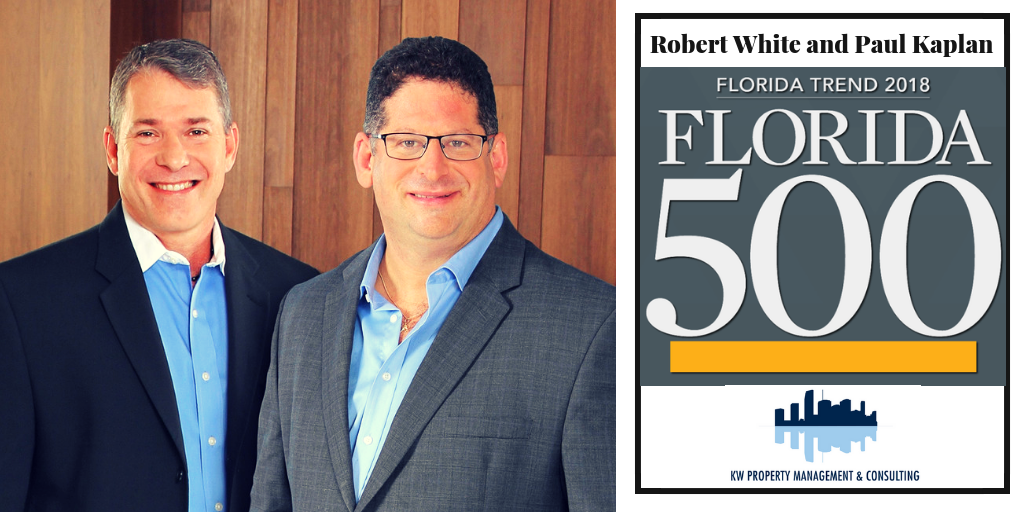 """KWPMC Co-Founders Paul Kaplan and Robert White are selected as part of the prestigious """"Florida 500"""" designation by Florida Trend Magazine"""