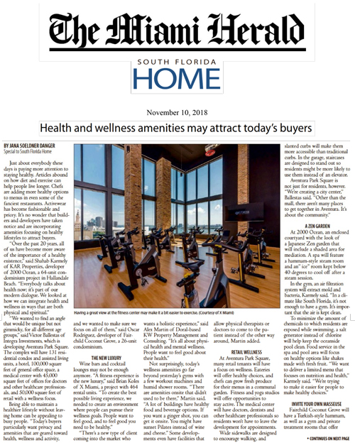 Health And Wellness Amenities May Attract Today's Buyers
