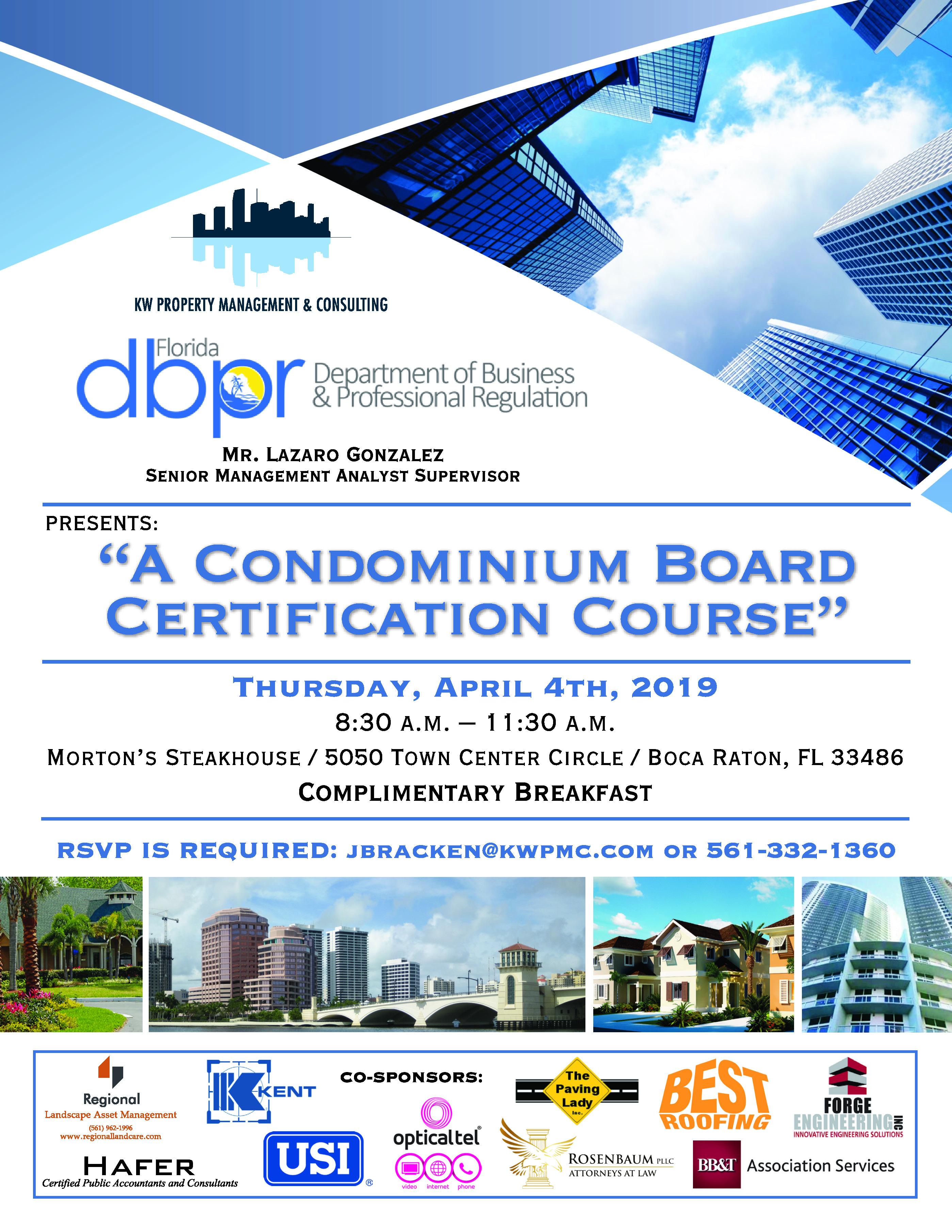 A Condominium Board Certification Course