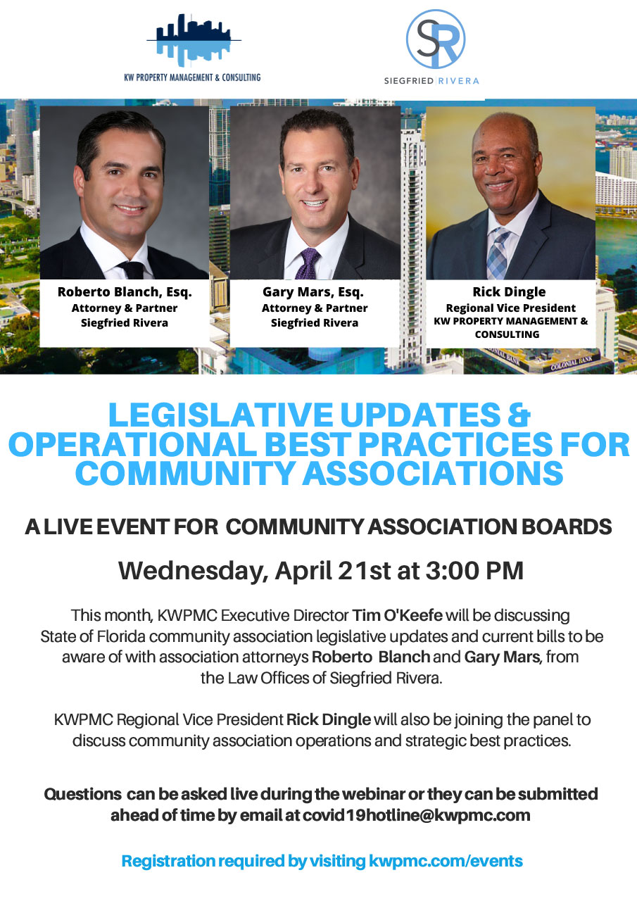 Legislative Updates & Operational Best Practices For Community Associations